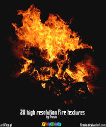 20 high res. fire textures by Frasio