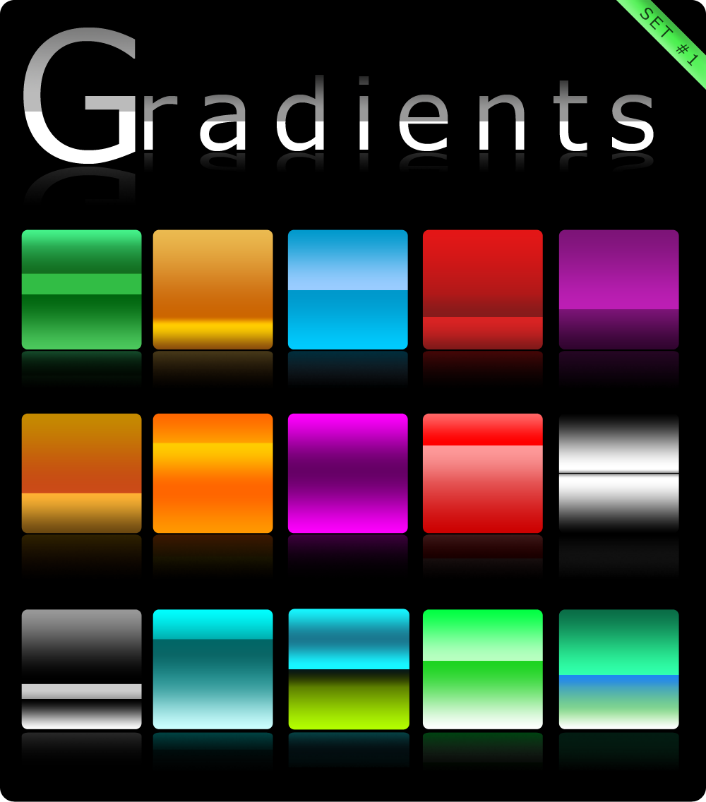 Gradients set 1 by Roamn