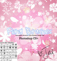 33Hi-Res Floral Brushes PS by enhancers
