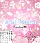 33Hi-Res Floral Brushes PS