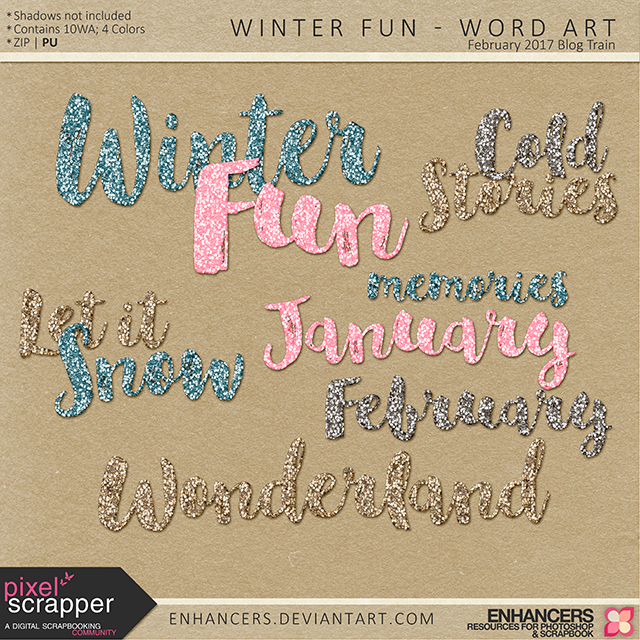 PSFeb2017 Winter Fun - Word Art