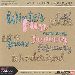 PSFeb2017 Winter Fun - Word Art by enhancers