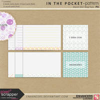 PsMar17 In the Pocket - Patterned Journal Cards