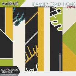 PixelScrapper Nov18 Blog Train - Family Traditions by enhancers