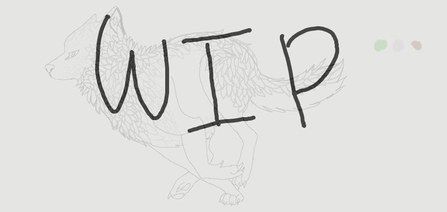 Running wolf (WIP) by XsilverdawnwarriorX