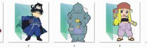 Fullmetal Alchemist folder icons