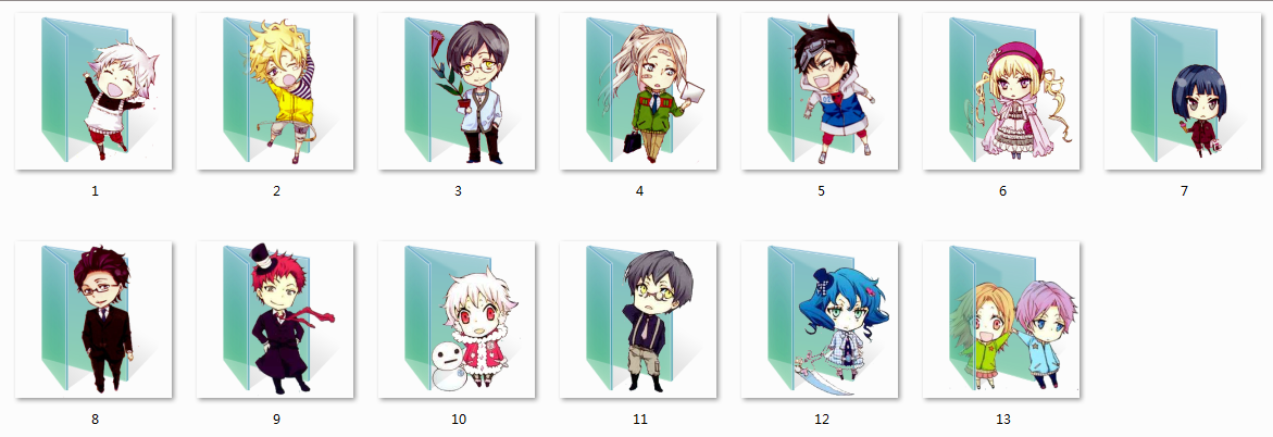Karneval Folder Icons by Ginokami6