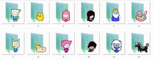 Adventure Time Folder Icons