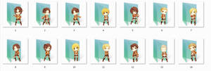 Attack On Titan Folder Icons by Ginokami6