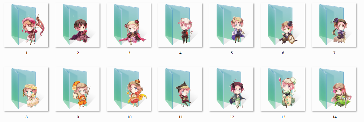 Cardverse Hetalia Folder Icons by Ginokami6