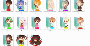 Kagerou Project folder icons