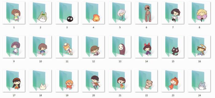 Ghibli Folder Icons by Ginokami6
