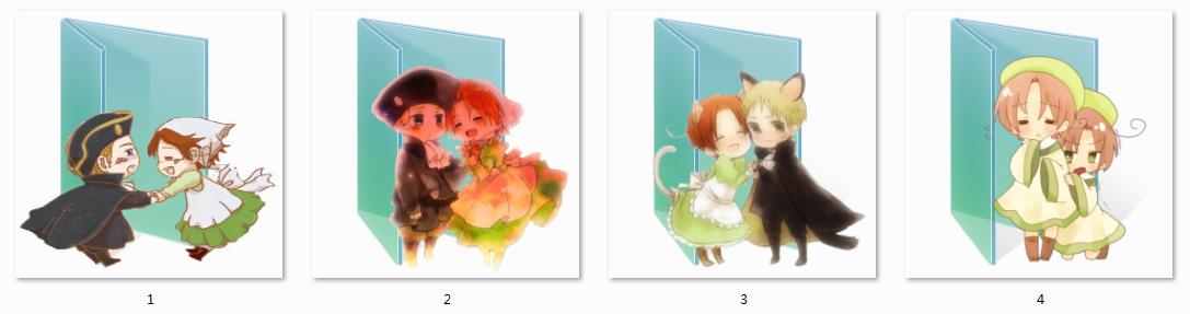 Chibitalia Folder Icons by Ginokami6