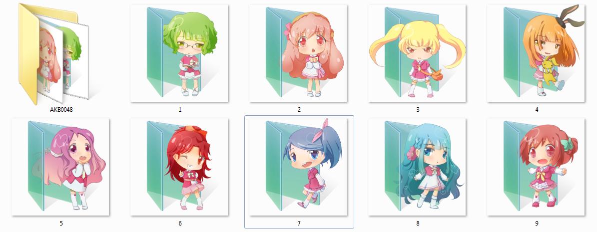 Akb0048 Folder Icons by Ginokami6