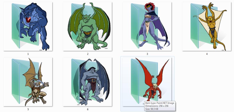 Gargoyles Folder Icons by Ginokami6