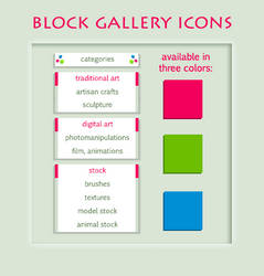 Block Gallery Icons, Sub-subfolder Look by artbymba