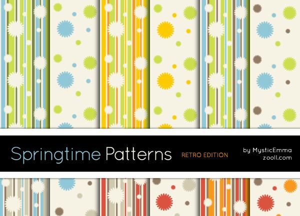 Springtime Patterns Retro Edition by MysticEmma
