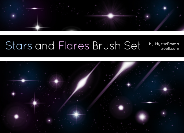 Stars And Flares Brush Set