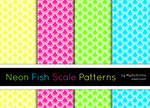 Neon Fish Scale Patterns