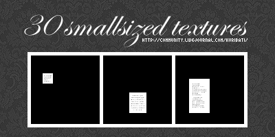 30 Tiny Text Textures by schokotorte