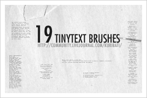 19 Tinytext Brushes by schokotorte