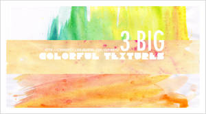 3 large colorful textures