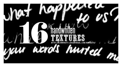 16 handwritten textures by schokotorte