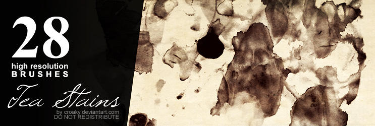 28 Tea Stain Brushes by croaky