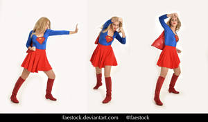 Supergirl  - Stock model reference pack 24 by faestock
