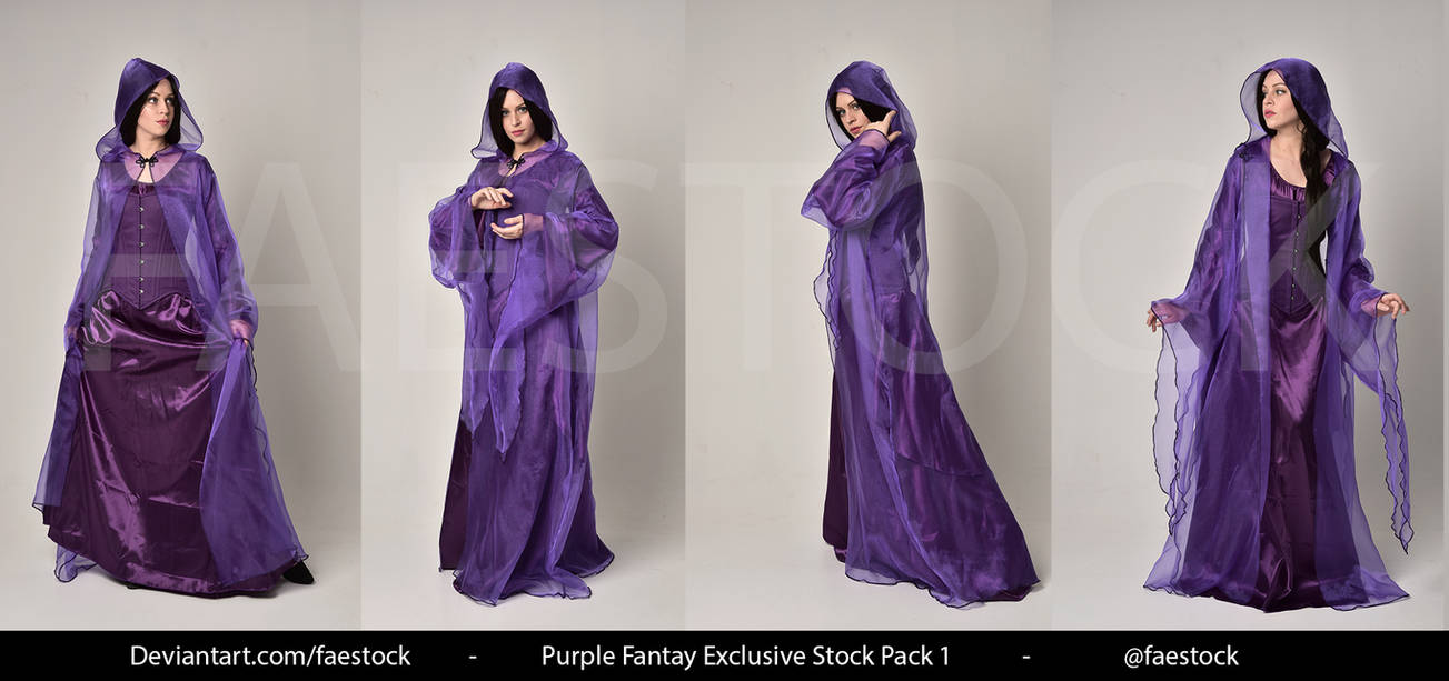Purple Fantasy  -   Exclusive Model Stock 1 by faestock