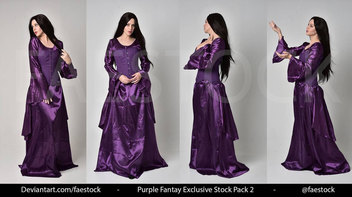 Purple Fantasy  -   Exclusive Model Stock 2 by faestock