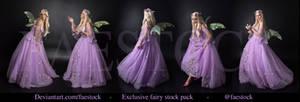 Exclusive purple fairy stock pack
