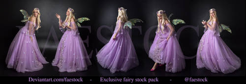 Exclusive purple fairy stock pack by faestock