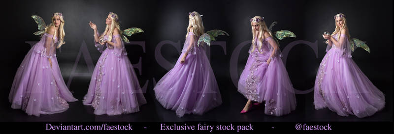 Exclusive purple fairy stock pack