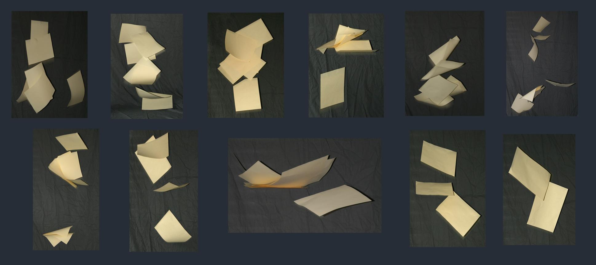 Falling paper pack