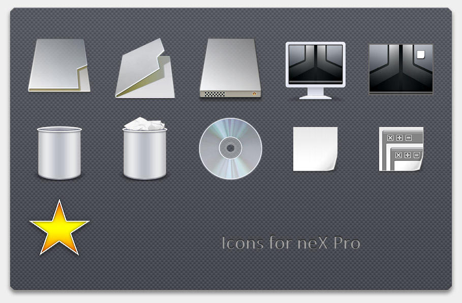 Icons for neX Pro VS by alocal
