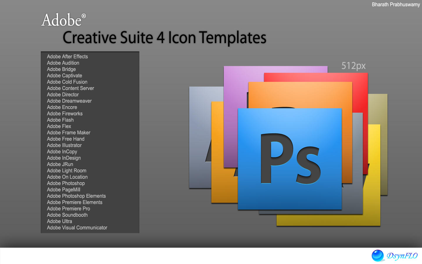 adobe cs4 icon templates by bharathp666 on deviantart