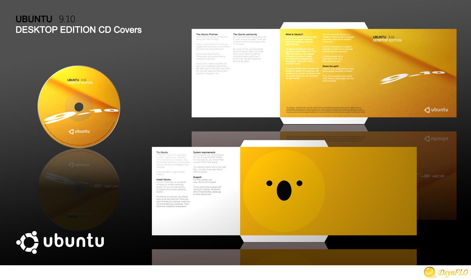 Ubuntu 9 10 Karmic Koala CD Covers
