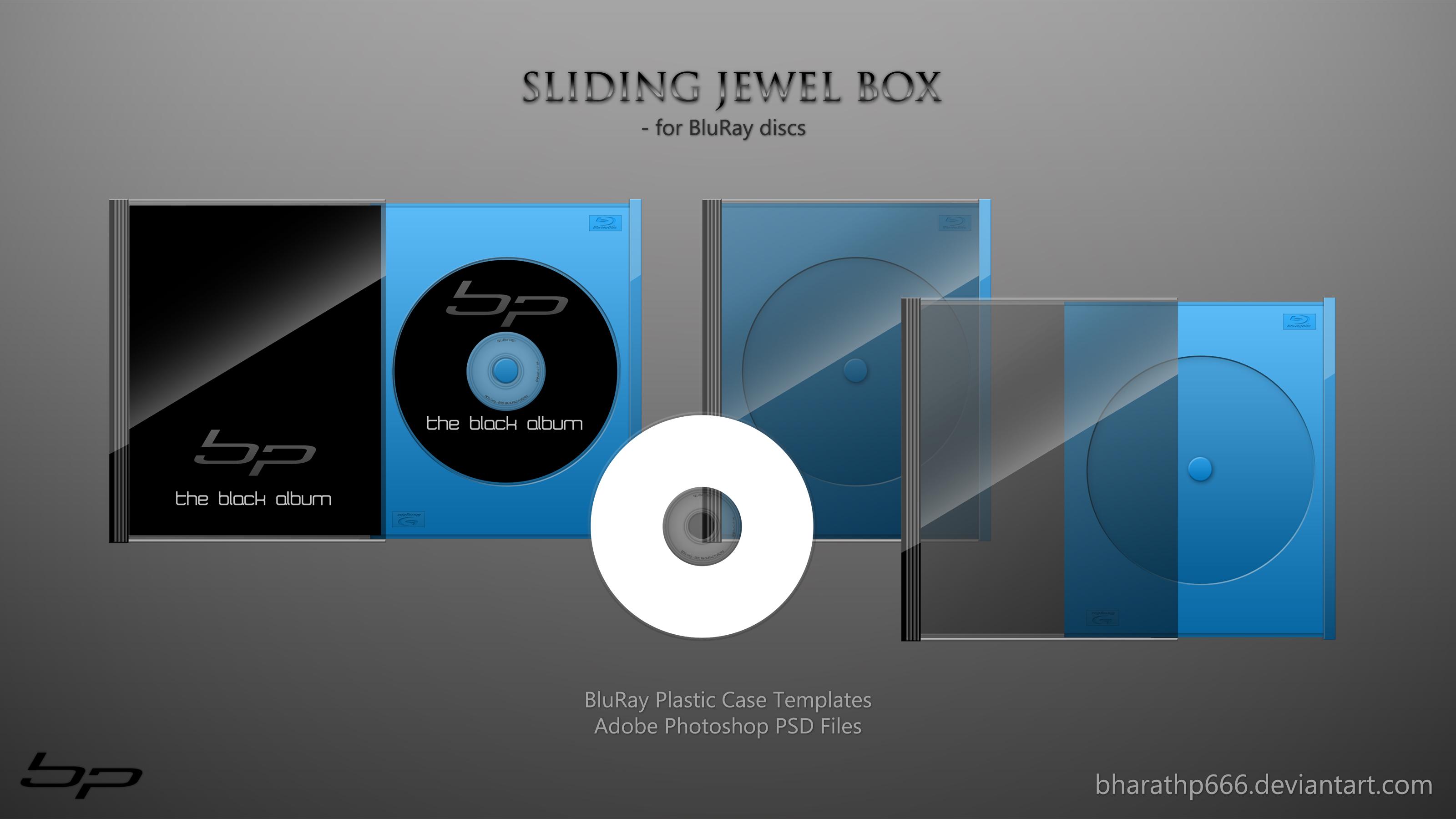 Sliding Jewel Box -Bluray .PSD
