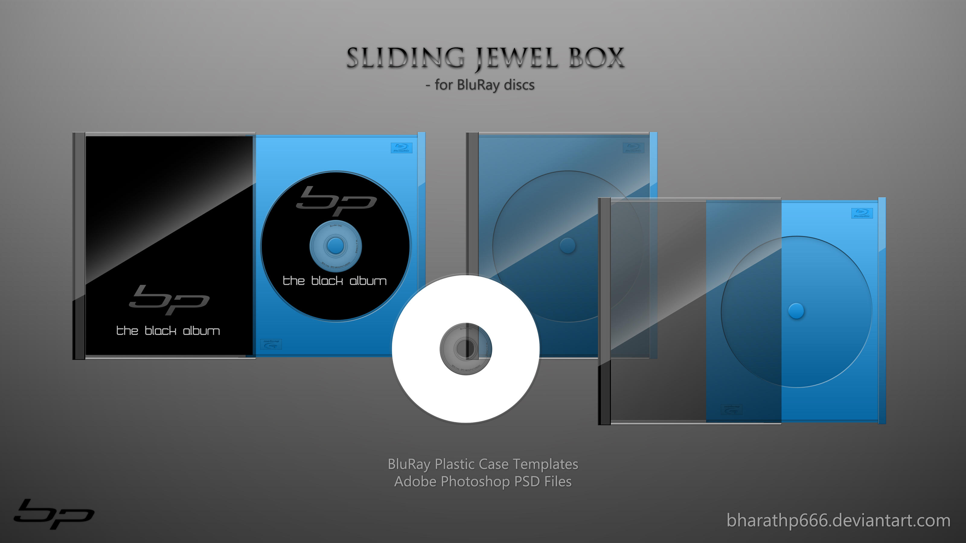 Sliding Jewel Box -Bluray .PSD by bharathp666