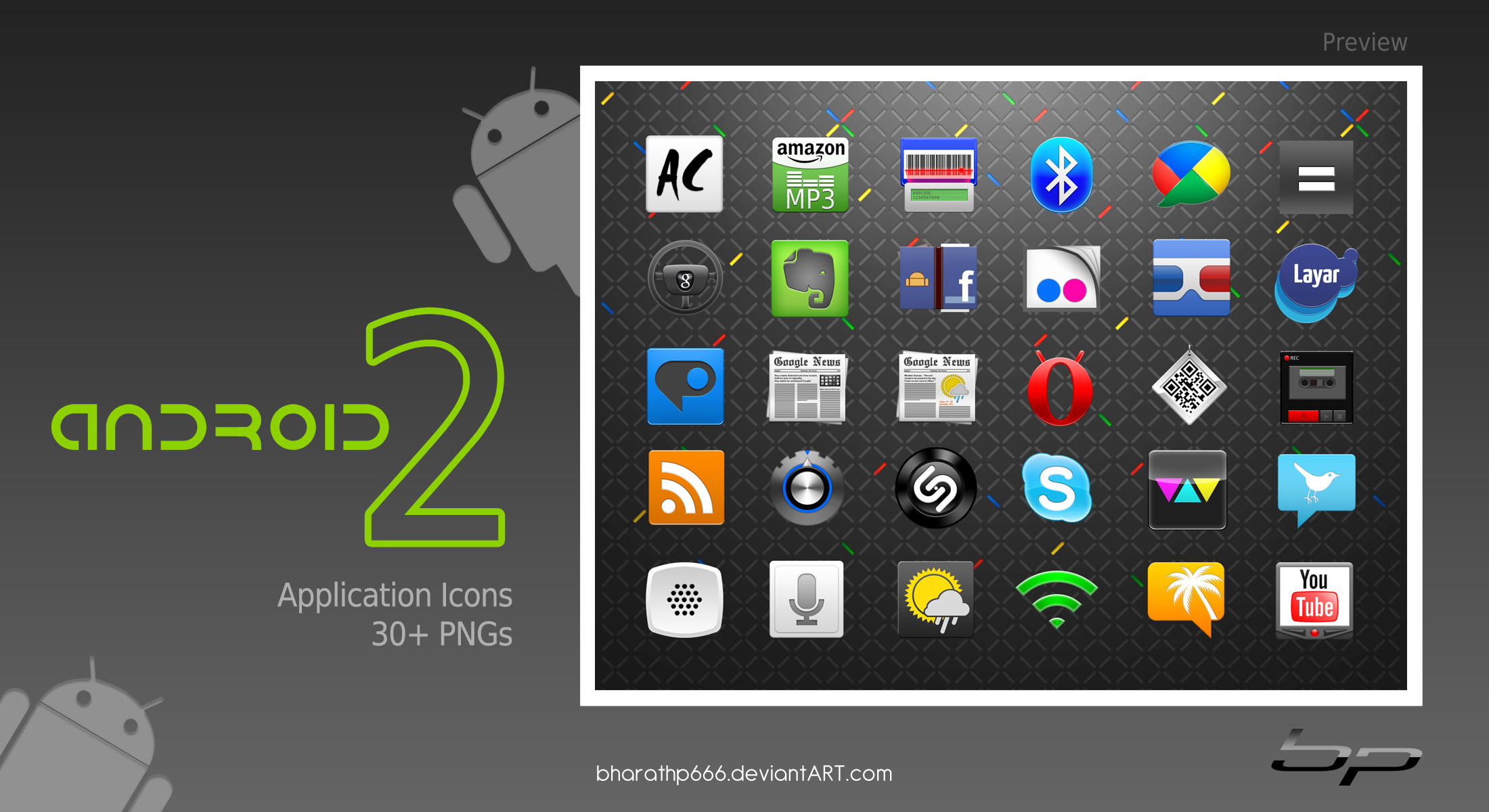 Android Icons Set 2 by bharathp666 on DeviantArt