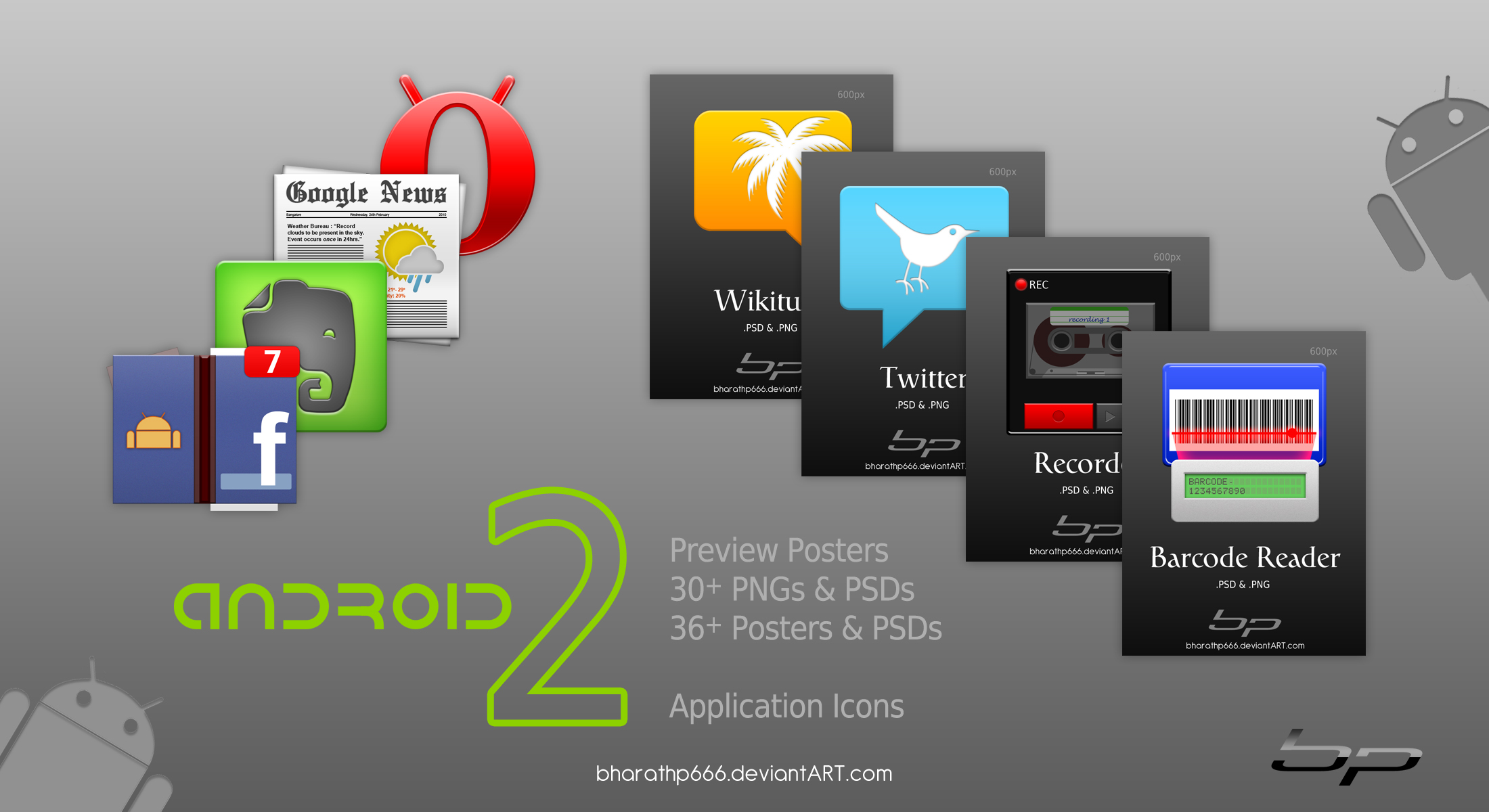 Android Icons Set 2 Templates