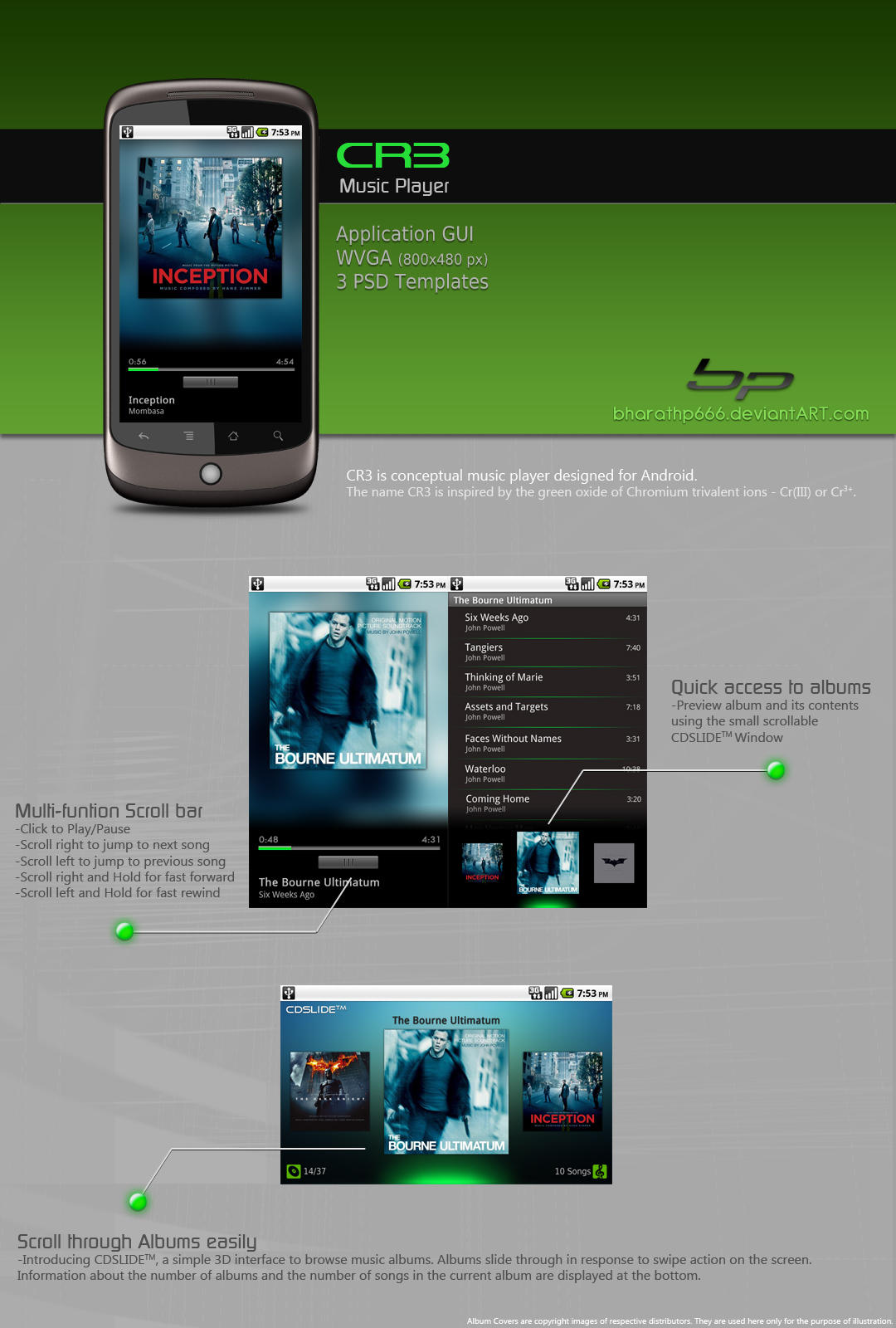 Android: Music Player Concept by bharathp666