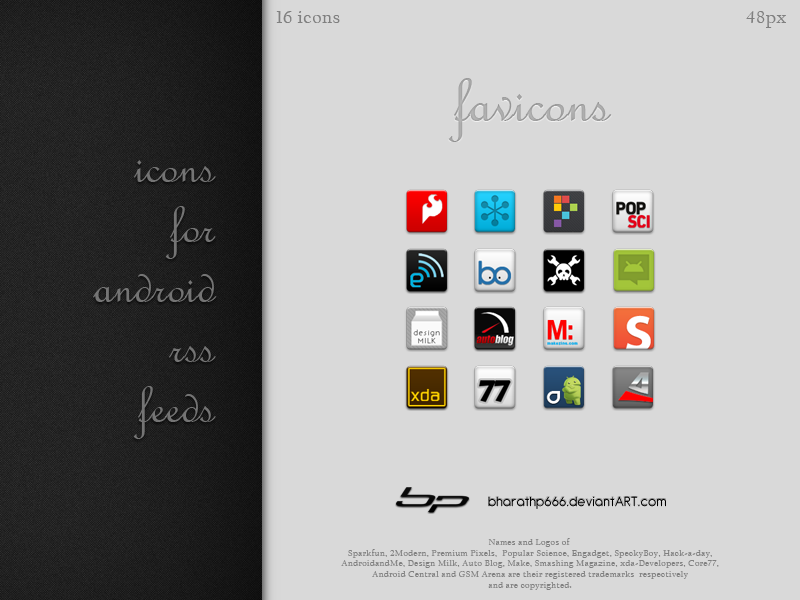 Android: Favicons by bharathp666