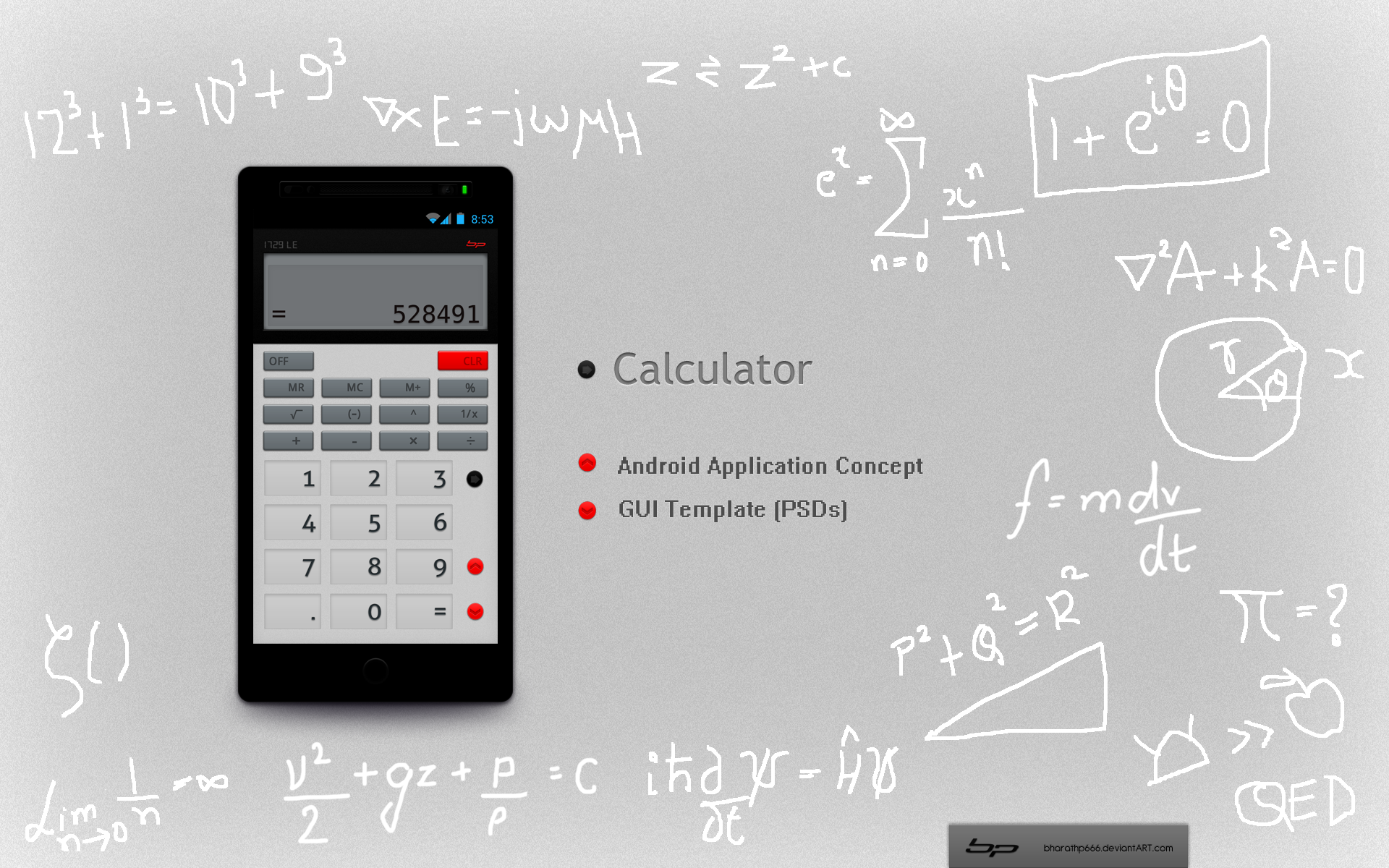 android calculator app concept by bharathp666
