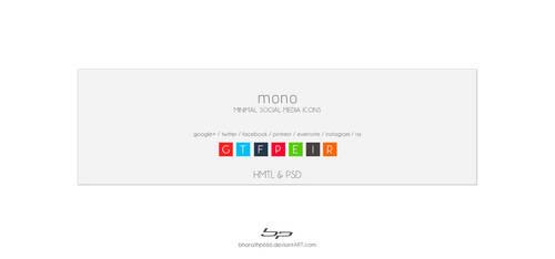 mono : minimal social media icons