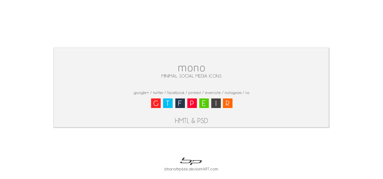 mono : minimal social media icons by bharathp666