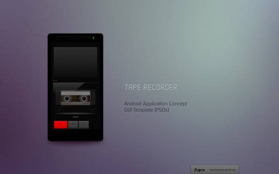 Android: Tape Recorder App. Concept