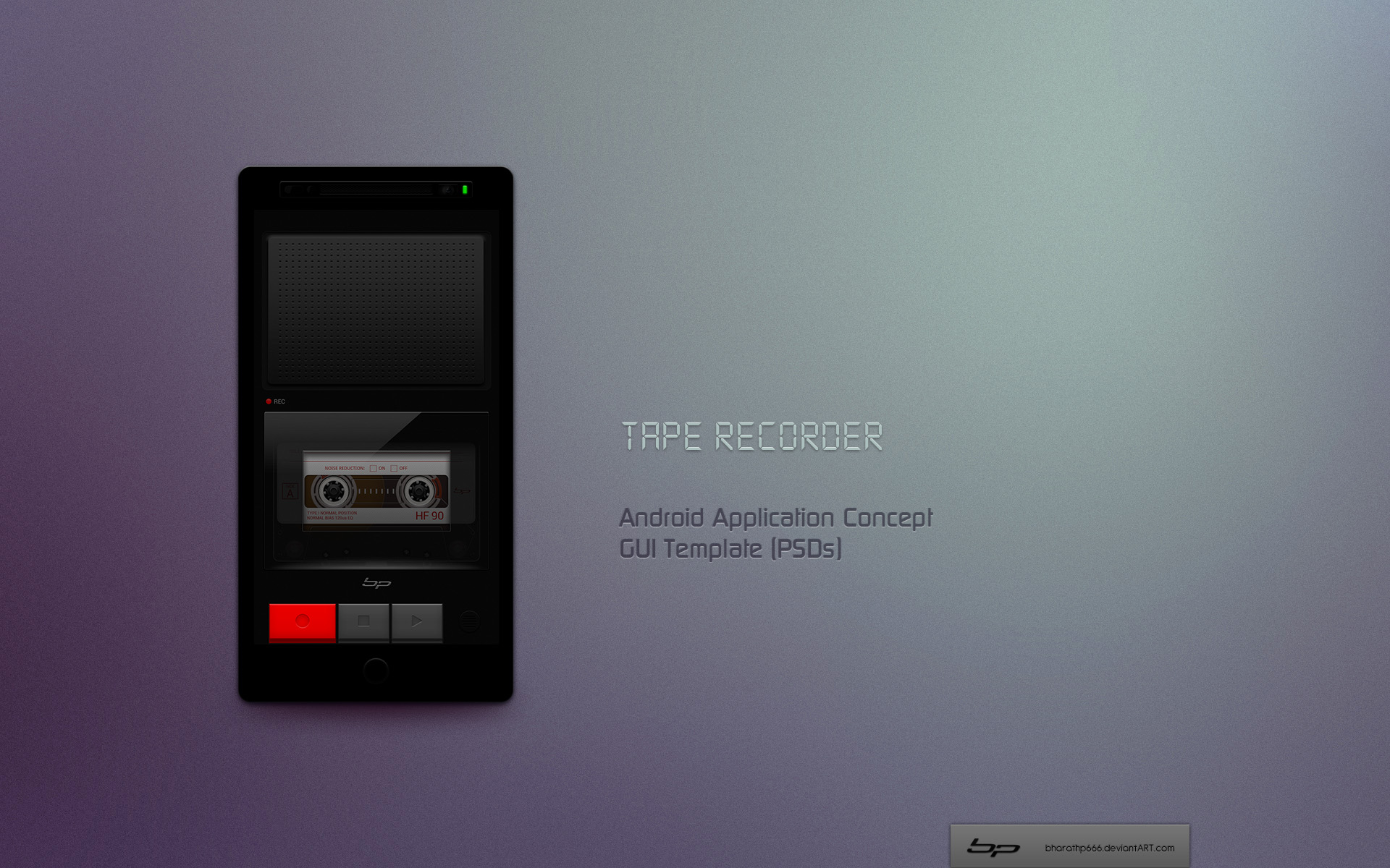 Android Tape Recorder App Concept By Bharathp666 On Deviantart