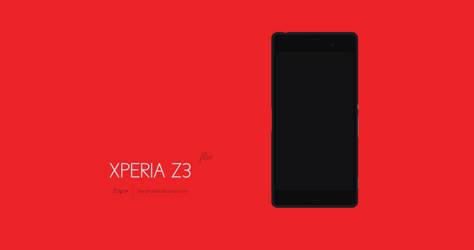 Sony Xperia Z3 Flat Design